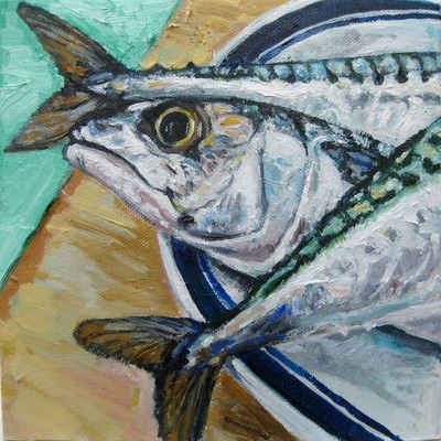 Giclee Print Mackerel Head And Tails