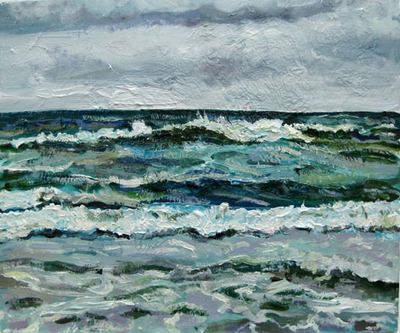 Giclee Print Seascape Croyde Bay