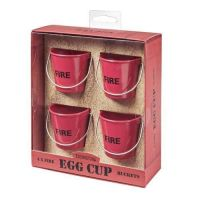 Eddingtons Red Egg Buckets ~ FIRE BUCKETS ~ set of 4
