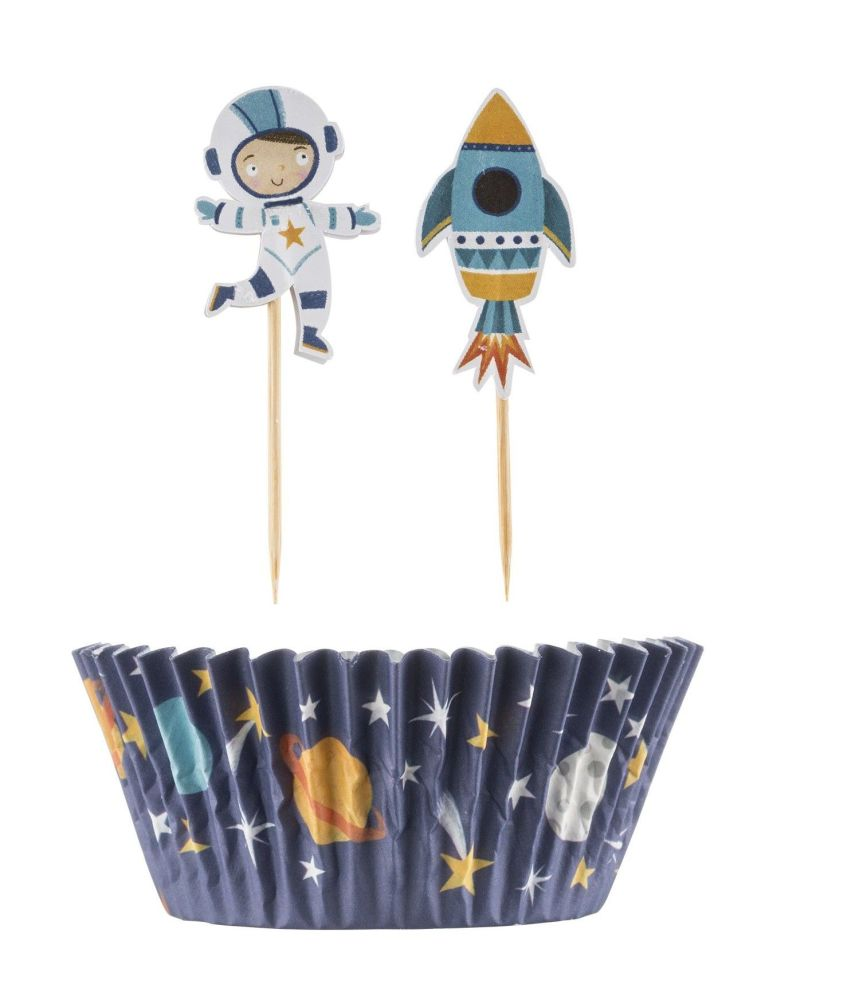 Cupcake Case Set ~Mason Cash Space Man 48 piece set
