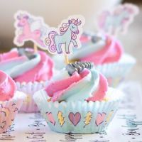 Cupcake Case Set ~ Mason Cash Unicorn 48 piece set