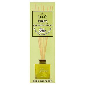 PRICE'S CHEF'S Reed Diffuser ~ Eliminates Cooking Odours