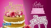 PME Happy Birthday Cake Topper Cutter ~ Script