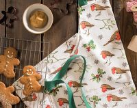 ULSTER WEAVERS ~ ROBINS & HOLLY ~ COTTON APRON