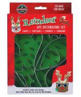 REINDEER 6 PIECE DECORATING SET