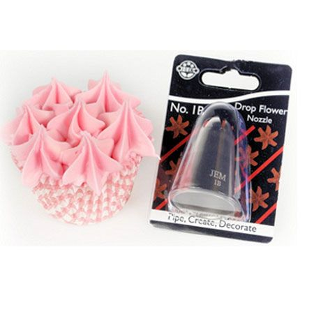 1B Drop Flower Nozzle ~ Rose Piping Cake & Cupcake Decorating No.1B