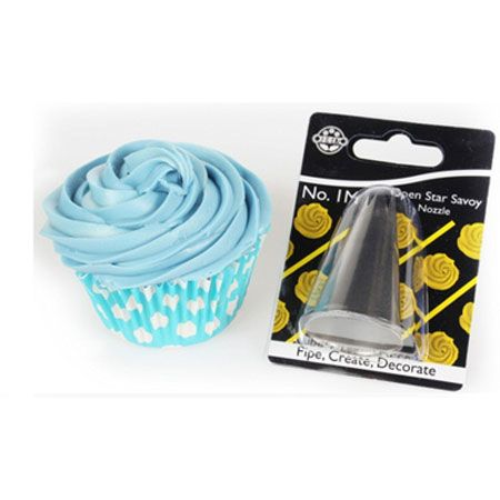 1M Open Star Savoy Buttercream Cake Decorating Nozzle