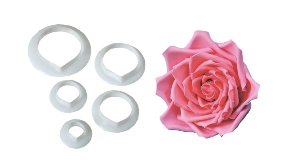 FMM Rose Petal Cutters - 5 Set