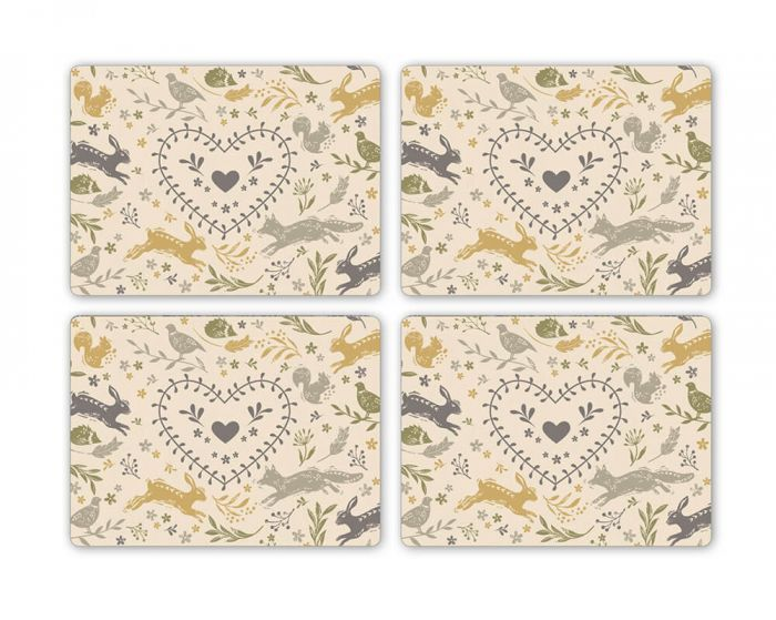 Cooksmart Set of 4 Placemats Woodland