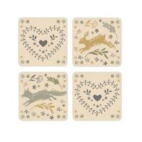 Cooksmart Set of 4 Coasters Woodland