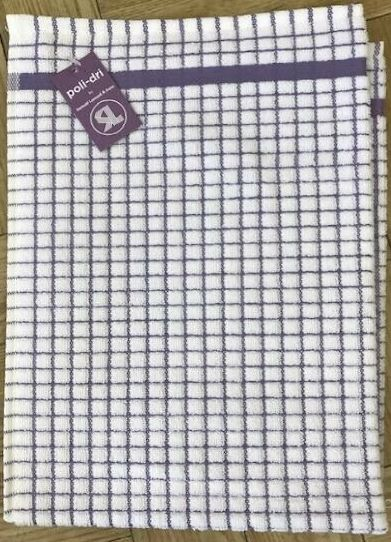 IRISH POLI~DRY TEA TOWEL ~ LAVENDER by Samuel Lamont & Sons
