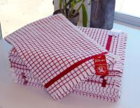 IRISH POLI~DRY TEA TOWEL ~ RED by Samuel Lamont & Sons