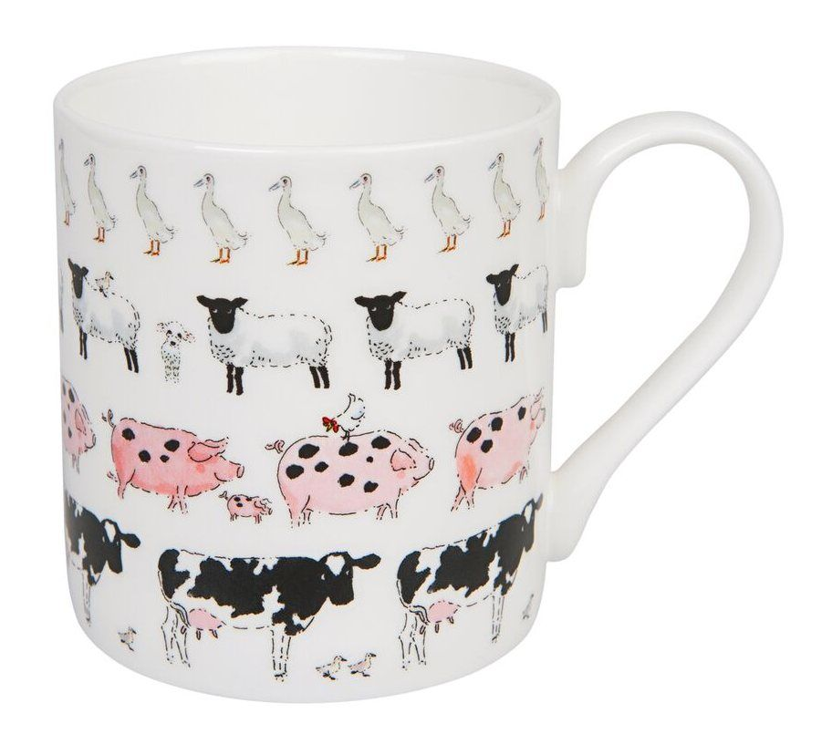 Sophie Allport ~ Farm Animals ~ Fine Bone China Mug ~ Standard size