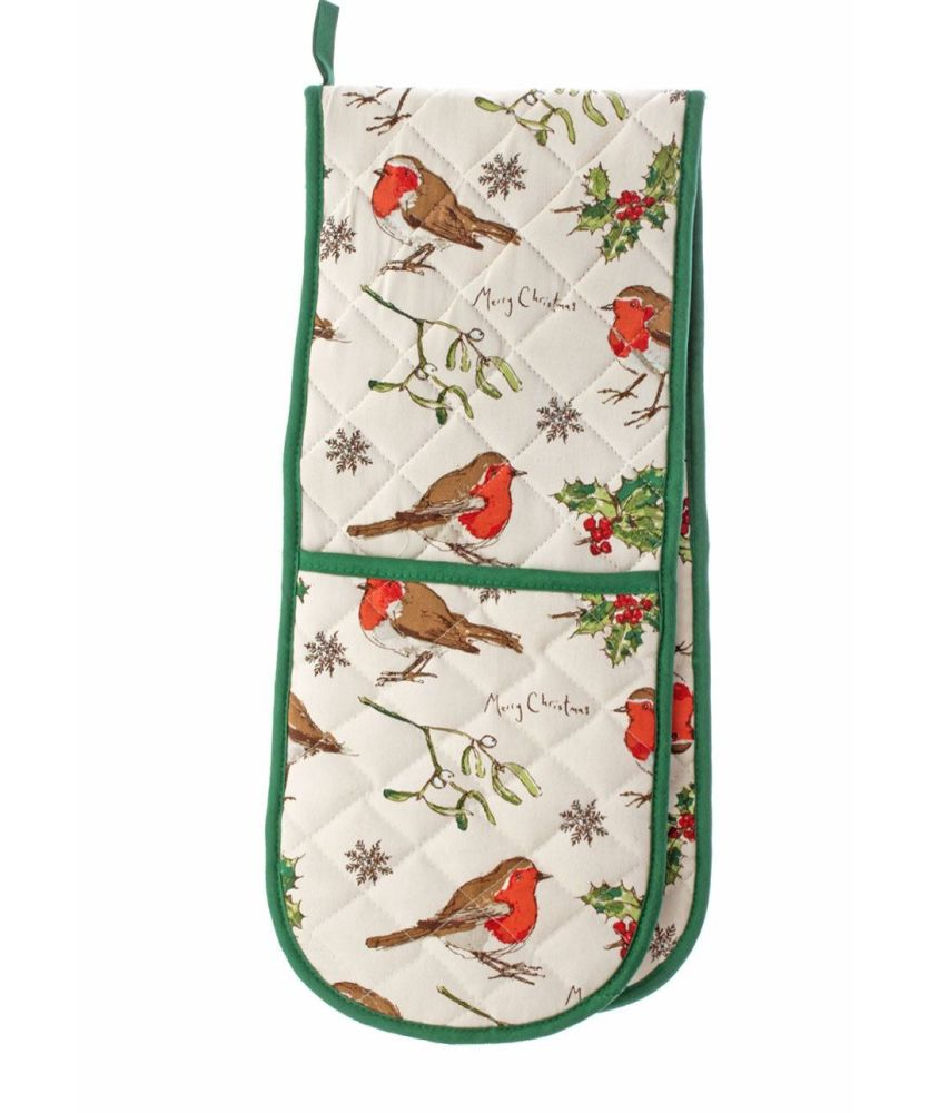 ULSTER WEAVERS ~ ROBIN & HOLLY Double Oven Glove