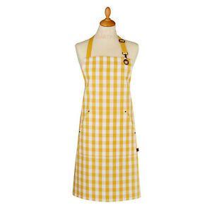 ULSTER WEAVERS ~ Yellow Gingham Adult Cotton Apron