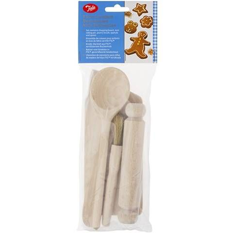 TALA FSC BEECH WOOD KIDS BAKING SET