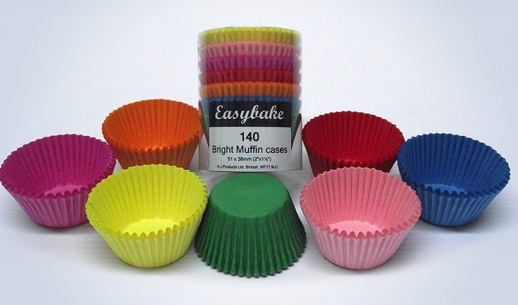 EASYBAKE MUFFIN CASES ~  BRIGHT MUFFIN CASES Pack of 140