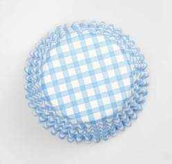 Blue Gingham Cupcake Cases (54 Piece)