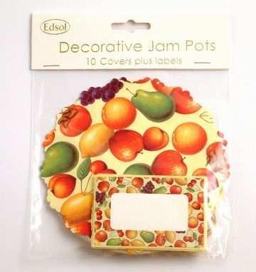 Edsol Fruit Design Jam Pot Covers (10 per pack)