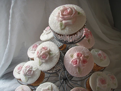 Karen Davies Cupcake Top - Rose