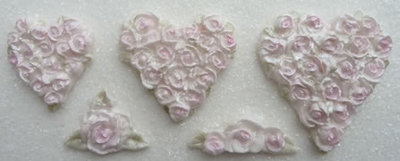 Karen Davies Piped Rose Hearts