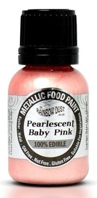 Rainbow Dust Metallic Food Paint - Pearlescent Baby Pink