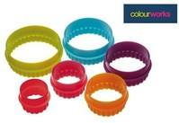 Brightly Coloured Round Cookie Cutters (colours may vary)