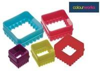 Brightly Coloured Square Cookie Cutters