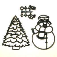 Patchwork Cutter - Large Snowman & Tree