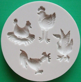 Alphabet Moulds - Farm Birds AM0057