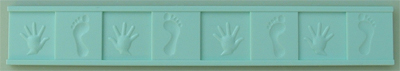 Alphabet Moulds - Hands & Feet Border