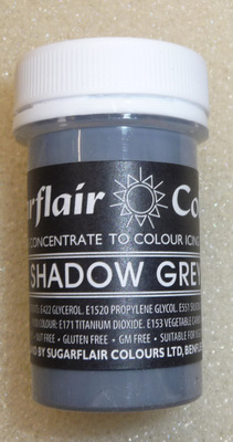 Sugarflair Pastel Paste Colour - SHADOW GREY
