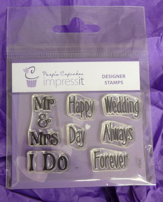 PURPLE CUPCAKES - Wedding Day Impressit Designer Stamps