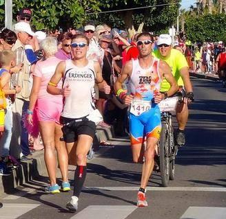 Stephen winning Lanzarote Music Marathon
