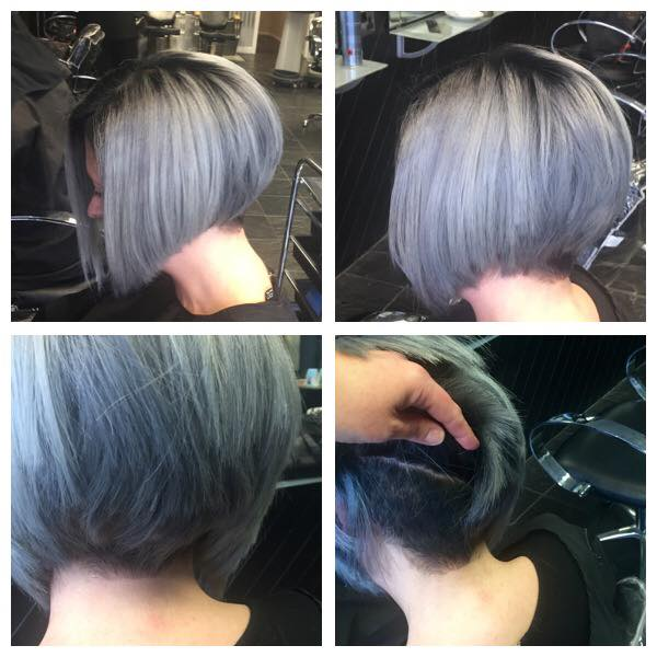 GREY LILAC END WITH DARK ROOT STRETCH