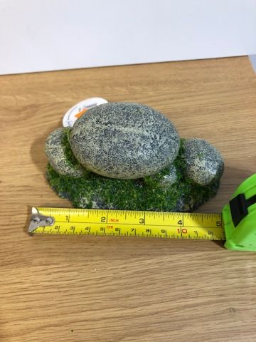 pebble pile with moss