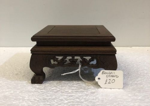 Chinese small wooden bonsai stand