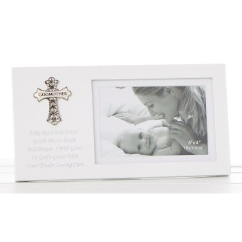 Ornate Cross Godmother Frame
