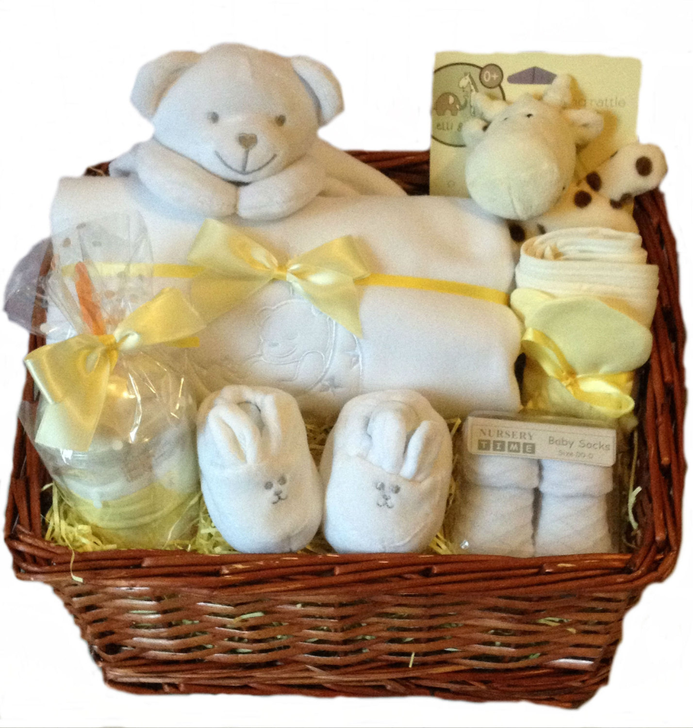 Baby Gift Hamper Delivery : Neutral baby gift hamper shower gifts delivered in