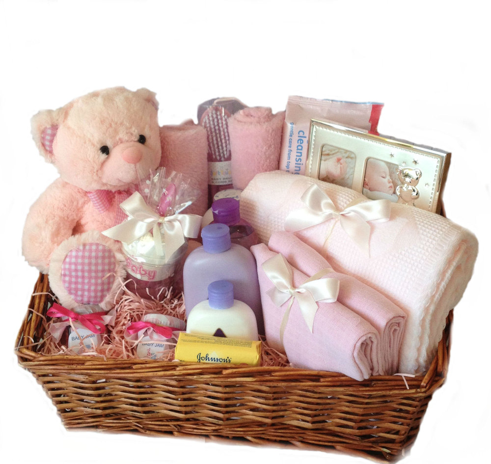 Large Baby Girl Hamper - New baby gifts nappy cakes and more ...