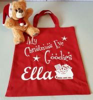 Personalised Christmas Eve Tote Bag