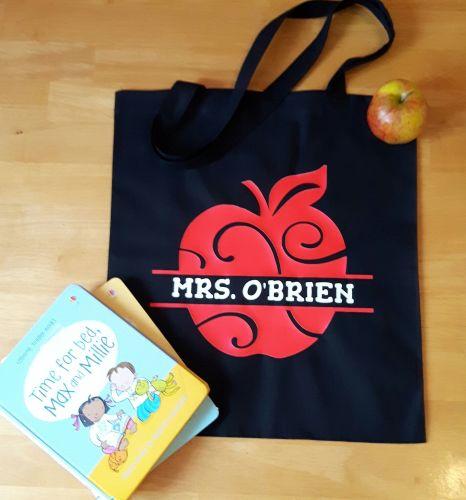 Teacher Tote Bag - Apple