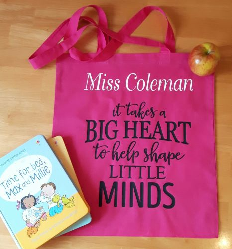 Teacher Tote Bag - Heart