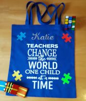 Teacher Tote Bag - Jigsaw