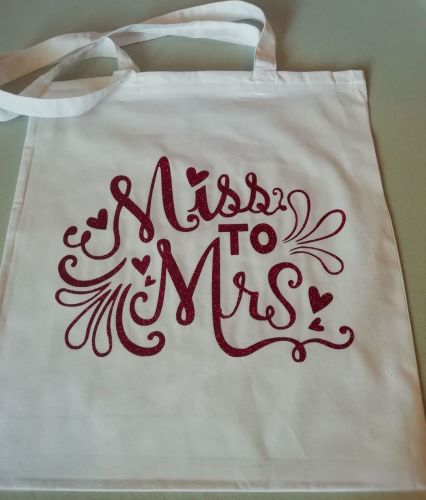 Miss To Mrs Tote Bag