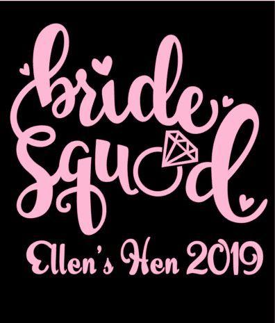 Bride Squad Hen TShirt