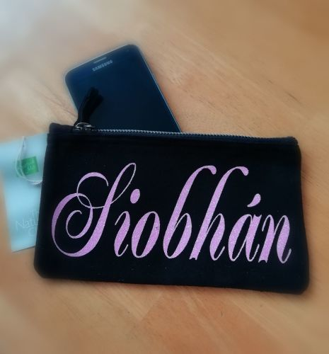 Personalised Canvas Pouch/purse/pencil case