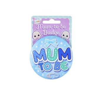 Mum To Be badge (Blue)