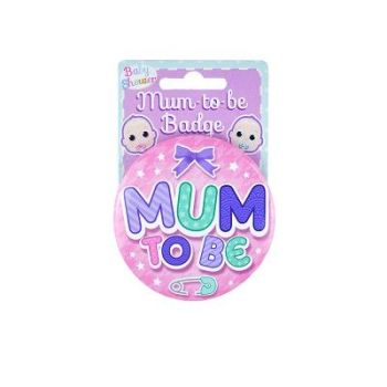 Mum To Be badge (Pink)