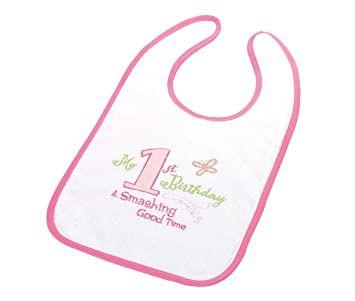 Lillian Rose First Birthday Bib (girl)